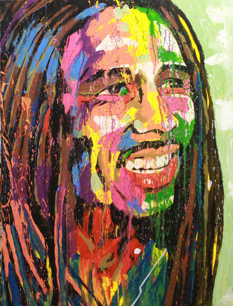 The Wailers Painting - Bob Marley by Bruce McLachlan