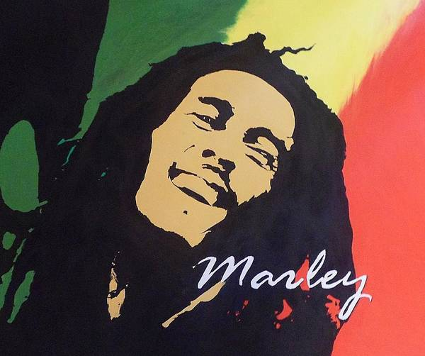 Dope Painting - Bob Marley by Cherise Foster