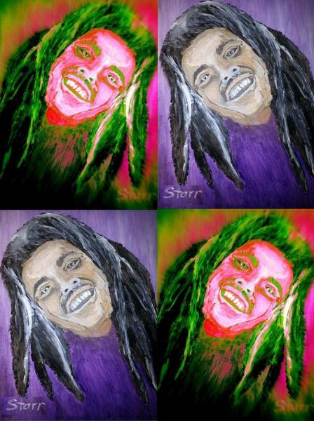 The Wailers Painting - Bob Marley Collage by Irving Starr