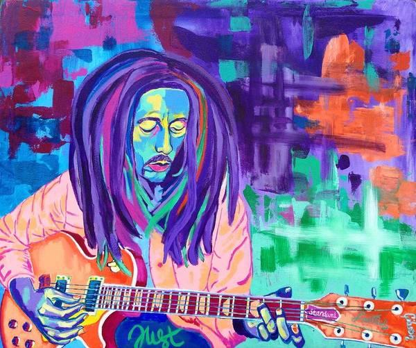 The Wailers Painting - Bob Marley by Janice Westfall