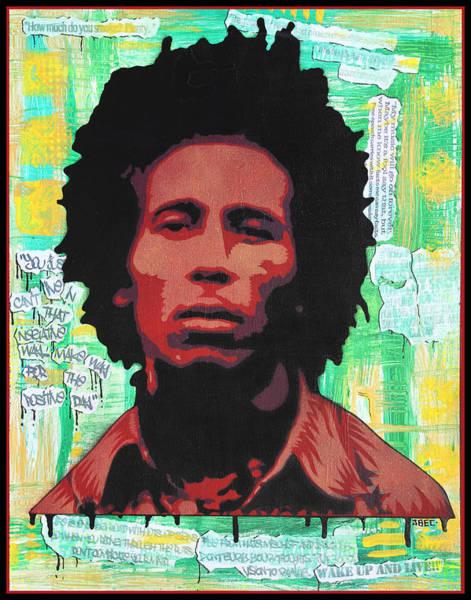 The Wailers Painting - Bob Marley  by Josh Cardinali