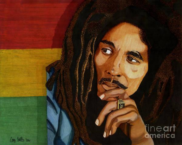 Reggae Wall Art - Drawing - Bob Marley Legend by Cory Still