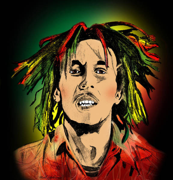 Reggae Painting - Bob Marley by Mark Ashkenazi