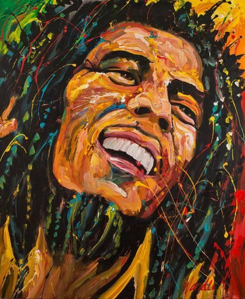 Rasta Painting - Bob Marley by Michael Wardle