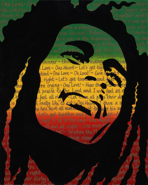 The Wailers Painting - Bob Marley One Love by Kandice Morley
