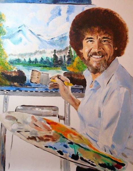 Oil Paints Painting - Bob Ross by Debi Day