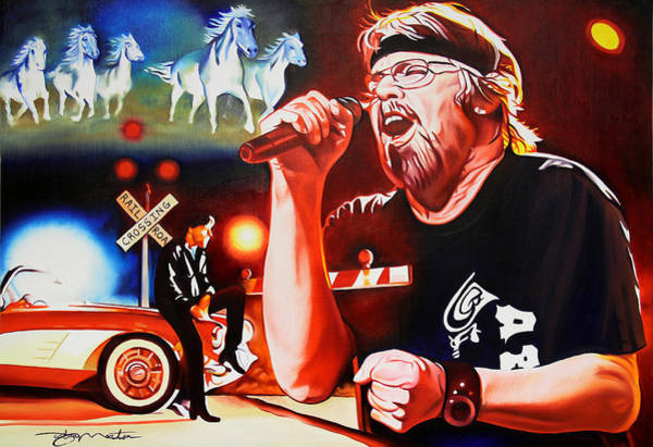 Wall Art - Painting - Bob Seger by Joshua Morton