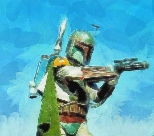 Star Wars Wall Art - Painting - Boba Fett Painting by Dan Sproul