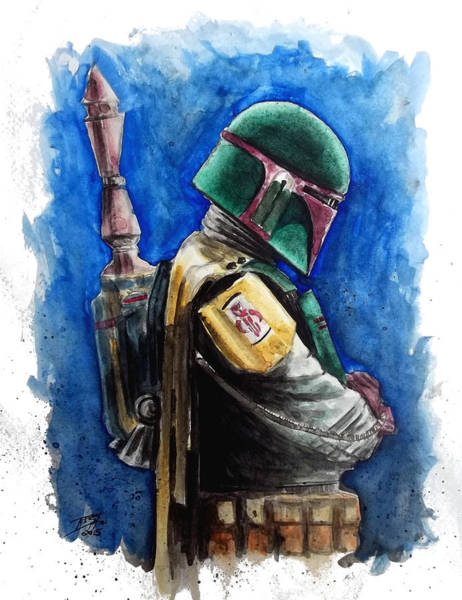 Episode 4 Wall Art - Painting - Boba Fett by Rob Spitz