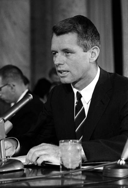 Wall Art - Photograph - Bobby Kennedy Speaking Before The Senate by War Is Hell Store