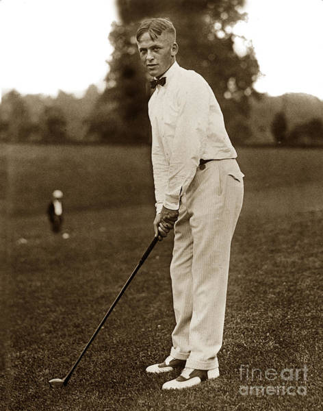 Photograph - Bobby T. Jones Jr. Playing In The National Open Golf Champions 1921 by California Views Archives Mr Pat Hathaway Archives