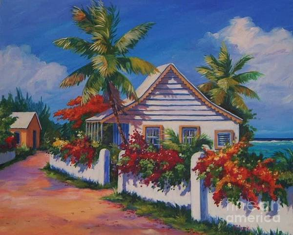 Trinidad Wall Art - Painting - Bodden Town Cottage by John Clark