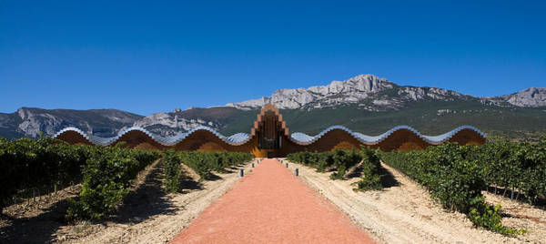 Santiago Calatrava Photograph - Bodegas Ysios Winery Building by Panoramic Images