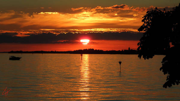 Photograph - Bodensee  Island Sunset by Colette V Hera  Guggenheim