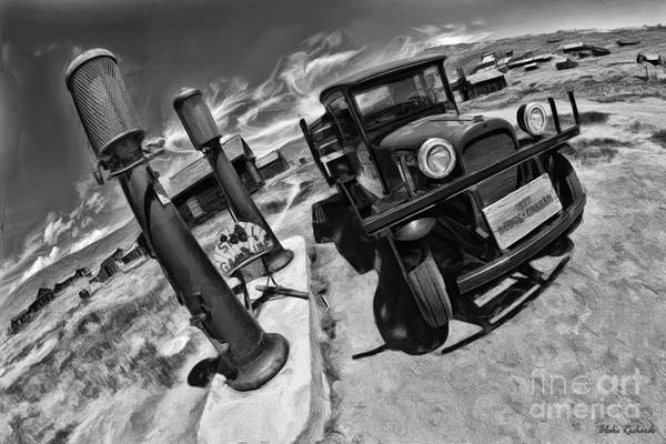 Photograph - Bodie 1927 Dodge Truck Black And White by Blake Richards