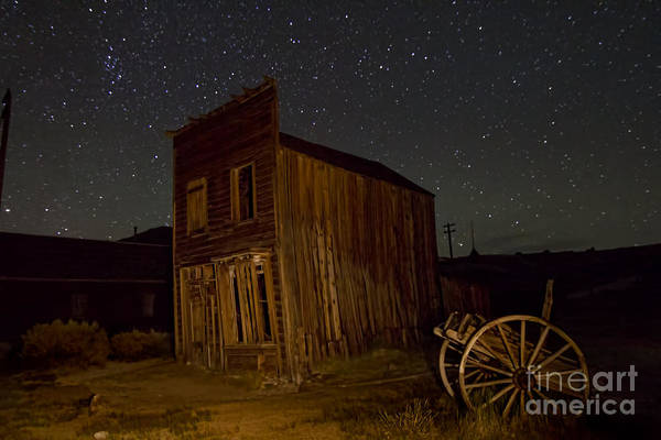 Photograph - Bodie Building And Wagon Cart by Crystal Nederman