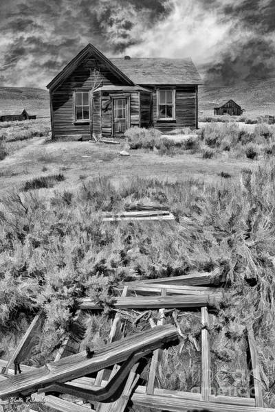 Photograph - Bodie Cabin Black And White by Blake Richards