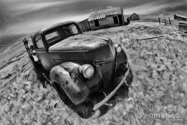 Photograph - Bodie Ford Fisheye View Black And White by Blake Richards