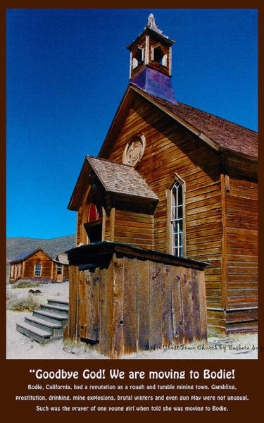Bodie Ghost Town Wall Art - Digital Art - Bodie Ghost Town Church by Barbara Snyder