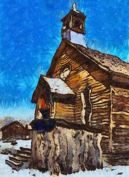 Bodie Digital Art - Bodie Ghost Town Methodist Church by Barbara Snyder