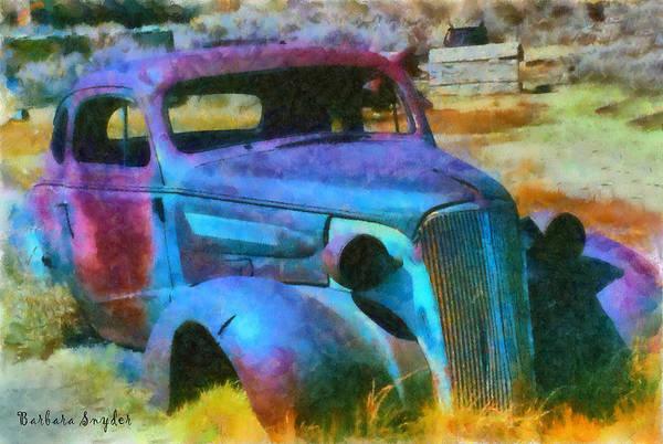 Bodie Digital Art - Bodie Ghost Town Wreck by Barbara Snyder