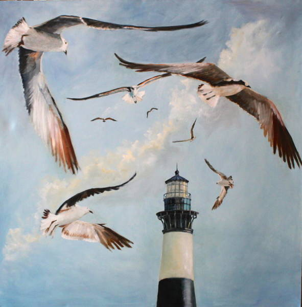 Bird Wall Art - Painting - Bodie Island Fly By by Karen Langley
