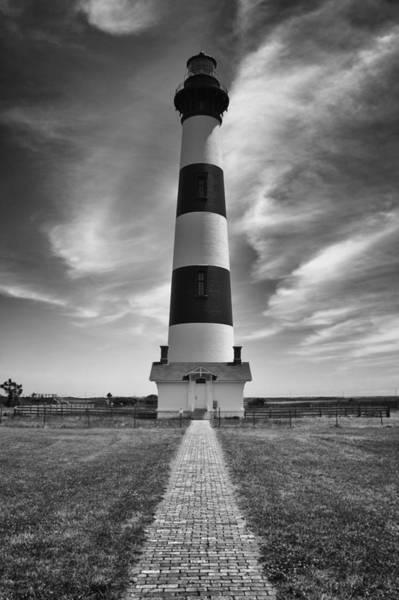 Photograph - Bodie Island Light In Monochrome by Ben Shields