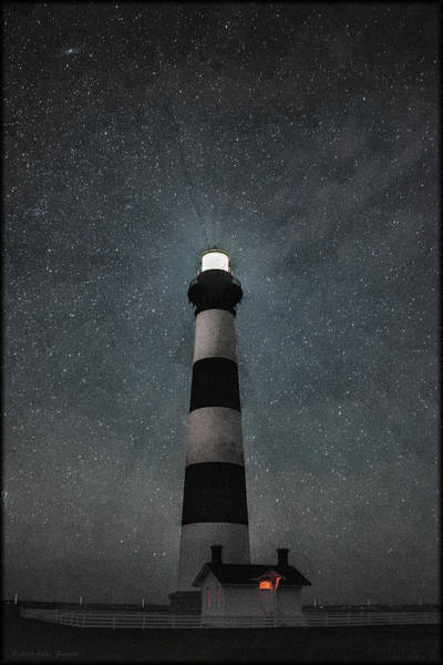 Bodie Island Light Midnight Art Print