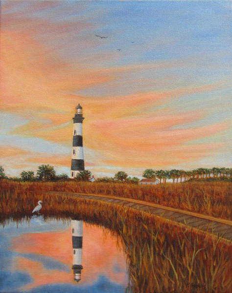 Painting - Bodie Island Lighthouse by Fran Brooks