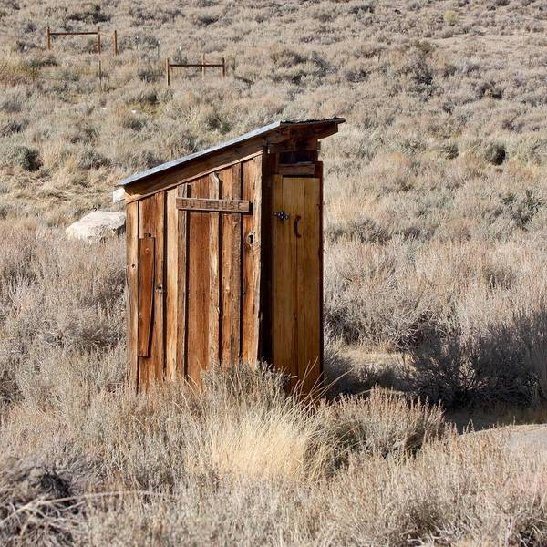 Privy Photograph - Bodie Outhouse by Art Block Collections