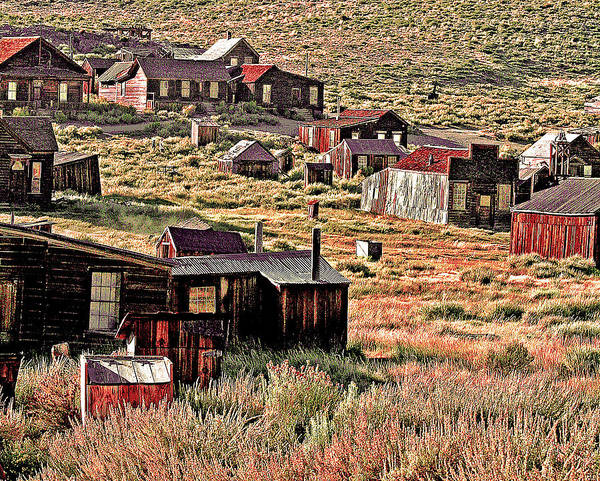 Photograph - Bodie Rests On A Hill by Joseph Coulombe