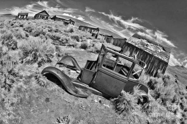 Photograph - Bodie The Ghost Town Black And White by Blake Richards