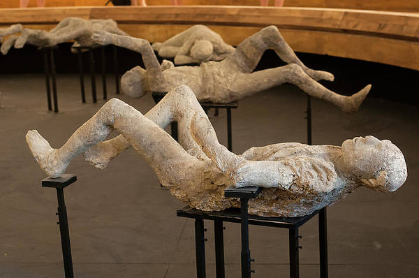 Wall Art - Photograph - Body Casts Of Victims Of The Pompeii Eruption by Pasquale Sorrentino/science Photo Library