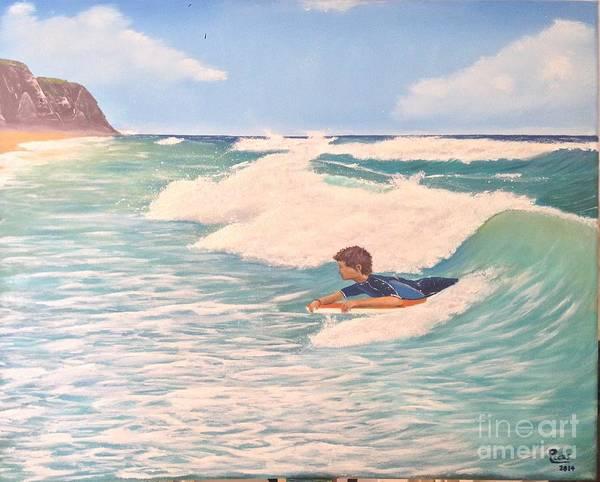 Bodyboard Wall Art - Painting - Bodyboard Praia Grande by Pedro Metello