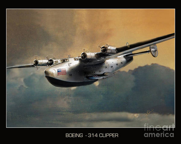 Airboat Photograph - Boeing 314 Clipper Seaplane by Tony Pierleoni