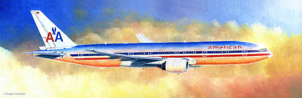 Painting - Boeing 777 by Douglas Castleman