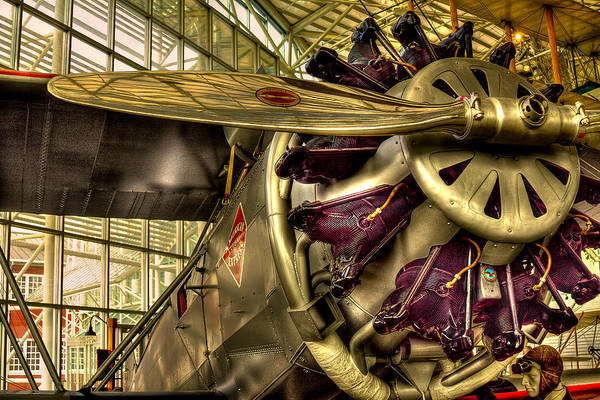 Radial Engine Photograph - Boeing 80a-1 Passenger Airplane by David Patterson