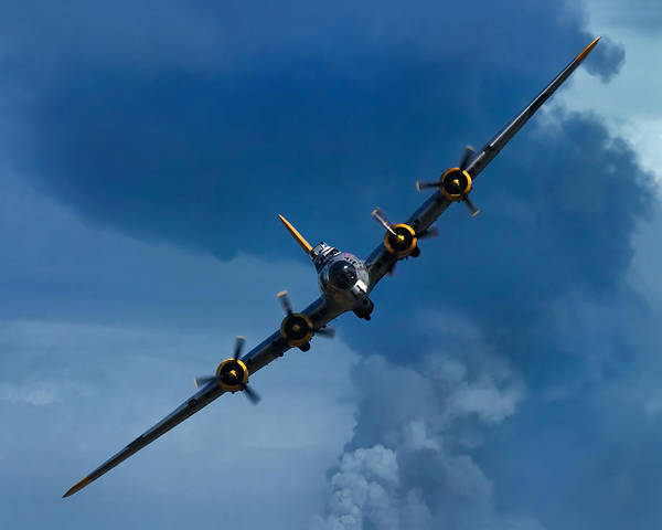 Pilot Photograph - Boeing B-17 Flying Fortress by Adam Romanowicz
