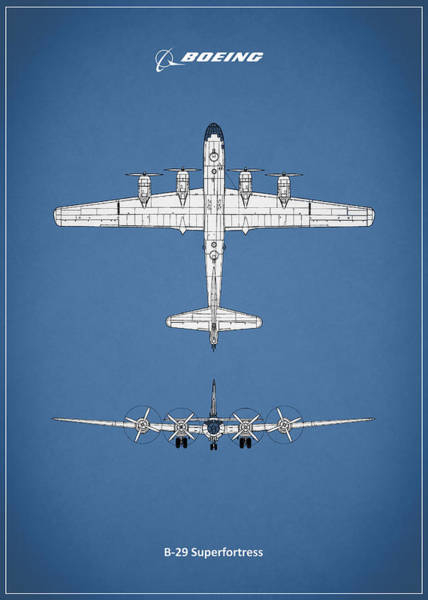 Flying Fortress Photograph - Boeing B-29 by Mark Rogan