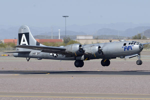 Superfortress Photograph - Boeing B-29 Superfortress N529b Fifi Deer Valley Airport March 7 2013 by Brian Lockett