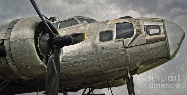 Painting - Boeing Flying Fortress B-17g  -  04 by Gregory Dyer