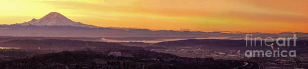 Port Orange Photograph - Boeing Seatac And Rainier Sunrise by Mike Reid
