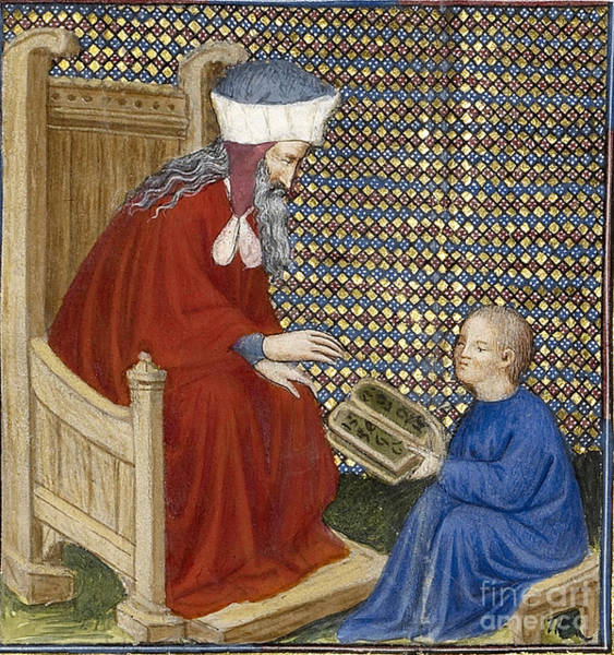 Notable Photograph - Boethius Instructs Boy In Arithmetic by Getty Research Institute