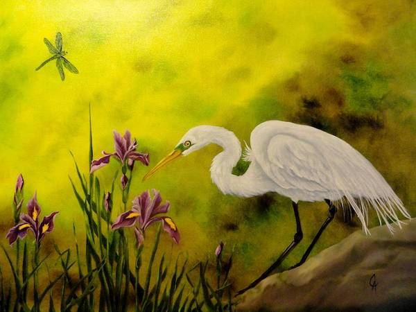 Wall Art - Painting - Bog Day Afternoon by Carol Avants