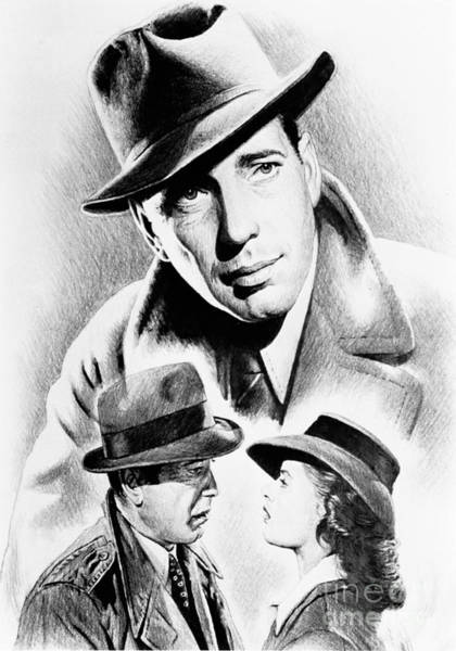 Nostalgia Drawing - Bogart by Andrew Read