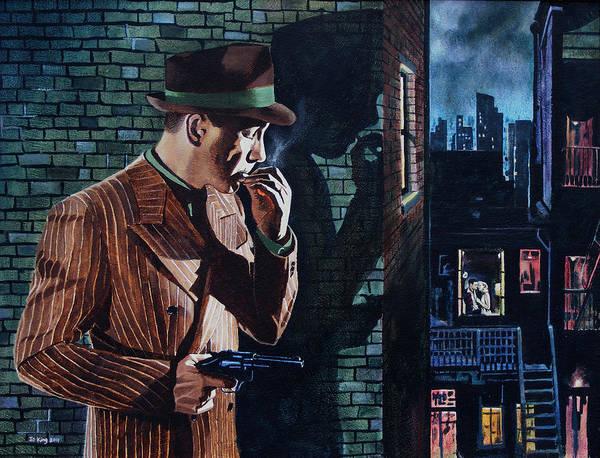 Bogart Is Waiting Art Print by Jo King