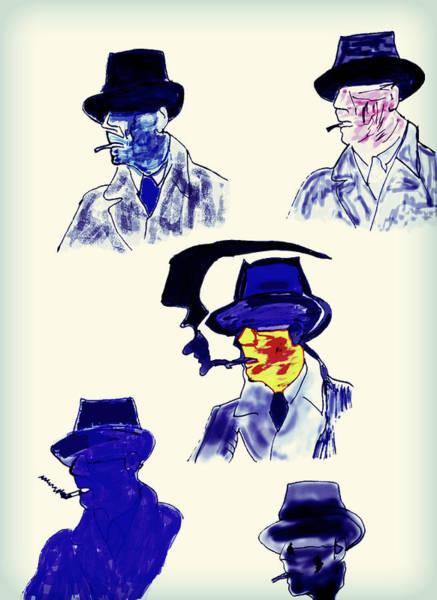 Bogart Digital Art - Bogart/marlowe by Carlo Oropallo