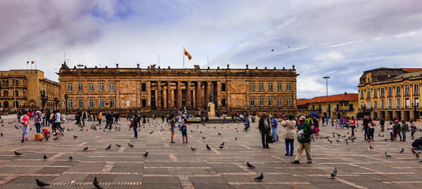 Bogota, Colombia: Parliament Building On Plaza Bolivar; Overcast Afternoon. Art Print by Devasahayam Chandra Dhas
