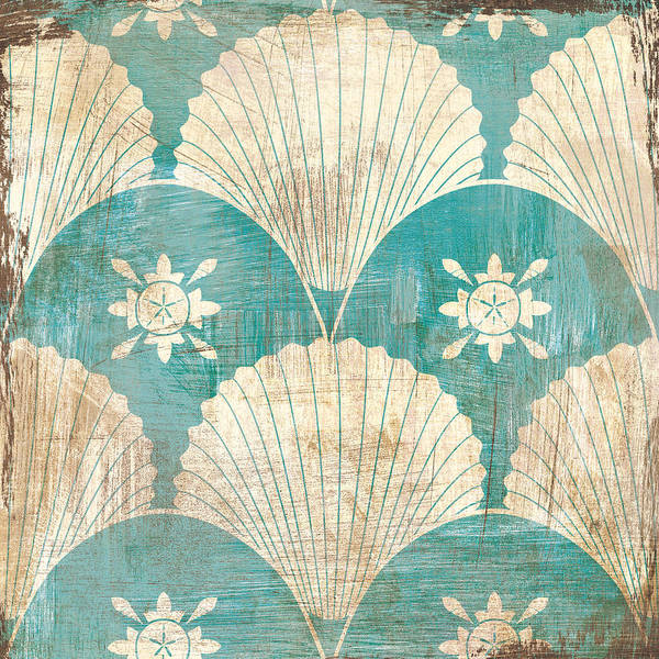 Wall Art - Painting - Bohemian Sea Tiles I by Cleonique Hilsaca
