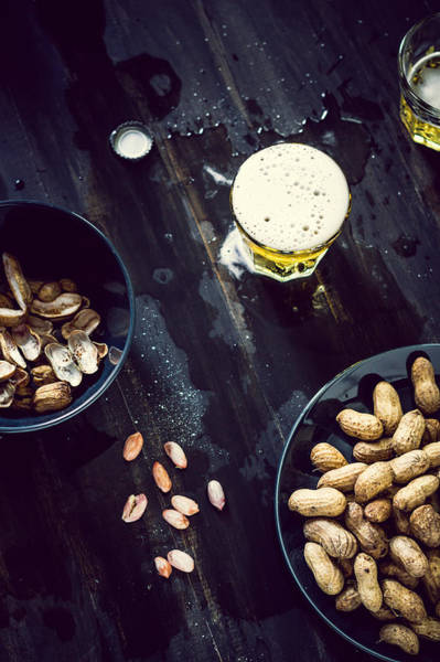 Alcohol Photograph - Boiled Peanuts And Beer by Chien-ju Shen